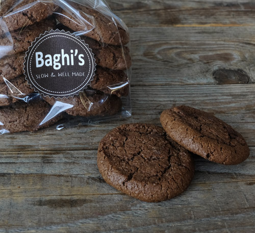 cookies chocolato baghi's sacchetto